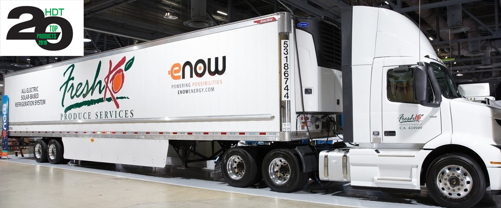 "eNow wins ""Top 20 Product for 2019"" from HDT for its All-Electric Solar-based Refrigeration System"